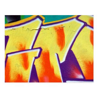 bunte Wand-Graffiti Postkarte