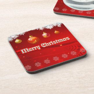 Bunte WeihnachtsParty-Dekorationen Getränkeuntersetzer