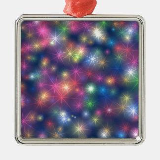 Bunte WeihnachtsParty-Glitter-Sterne Silbernes Ornament