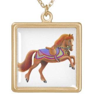 Bunte Zirkus-Pferdehalskette Vergoldete Kette