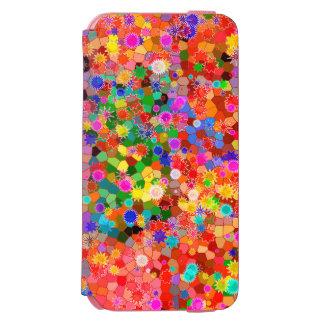 Bunter abstrakter Blumen-Kasten Incipio Watson™ iPhone 6 Geldbörsen Hülle