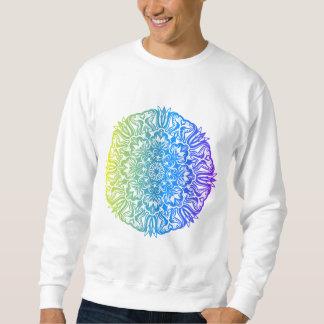 Bunter abstrakter ethnischer Blumenmandalaentwurf Sweatshirt