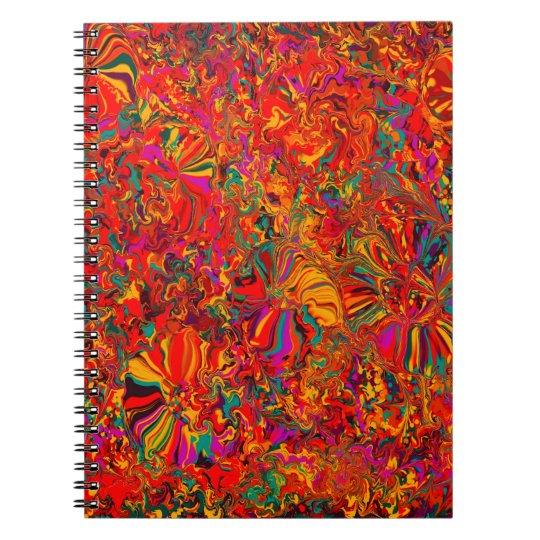 Bunter abstrakter multi Farbhintergrund Notizblock