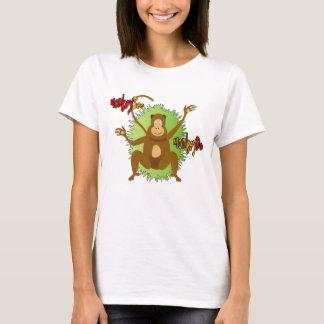 Bunter Affe des coolen Spaßes sehen Affen zu tun T-Shirt