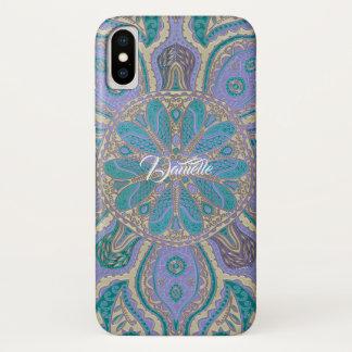 Bunter aquamariner lila GoldMandala iPhone X iPhone X Hülle