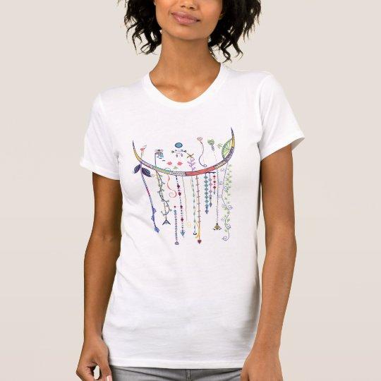 Bunter baumelnder Kunst-T - Shirt