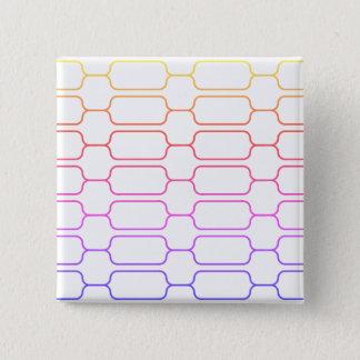 Bunter Block Quadratischer Button 5,1 Cm