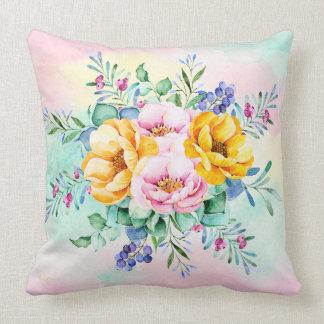 Bunter Blumen-Blumenstrauß Kissen