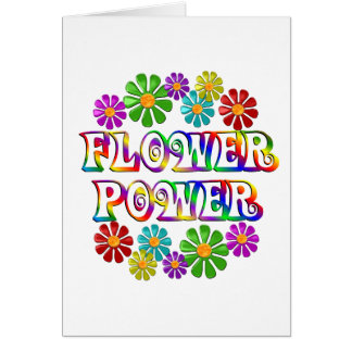 Bunter Blumen-Power Karte