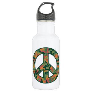 Bunter Camouflage-Frieden Edelstahlflasche