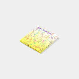 Bunter Confetti-Wurf-Hintergrund Post-it Klebezettel