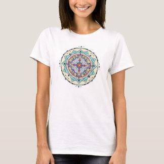 Bunter Eingeborener formt Mandala-Shirt T-Shirt