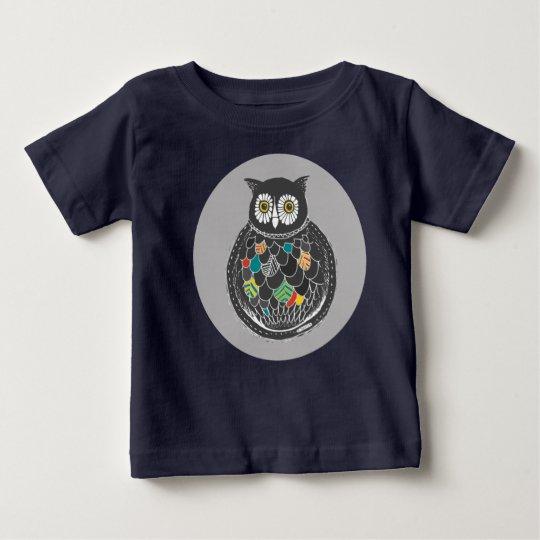 Bunter Eulen-Entwurf Baby T-shirt