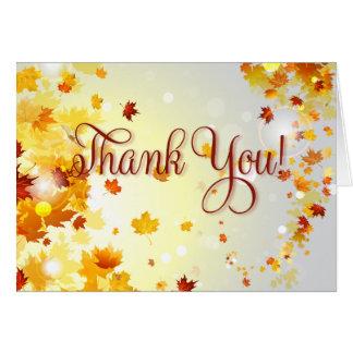 Bunter Fall danken Ihnen Karten mit Herbst-Blätter