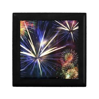 Bunter Feuerwerks-Andenken-Kasten Kleine Quadratische Schatulle