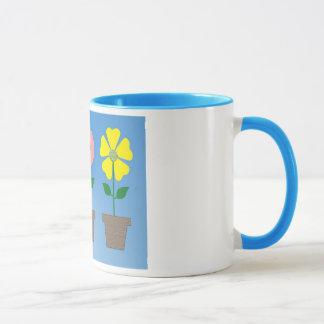Bunter Flowerpotentwurf auf Kaffee-Tasse Tasse