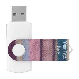 bunter gestrickter Art-Spaßentwurf der Streifen Swivel USB Stick 2.0