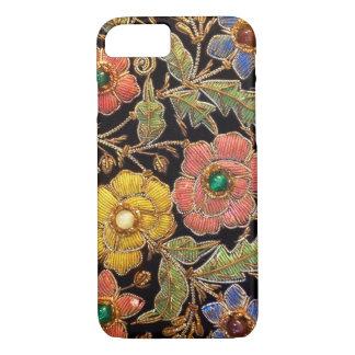 Bunter Glasperlen-Vintager Blumenentwurf iPhone 8/7 Hülle