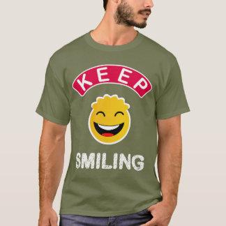 Bunter glücklicher lächelnder smiley des Spaßes T-Shirt