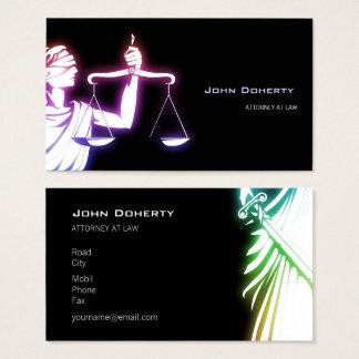 Bunter glühender Temida   Rechtsanwalt Visitenkarte