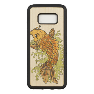 Bunter Goldfisch Koi Carved Samsung Galaxy S8 Hülle