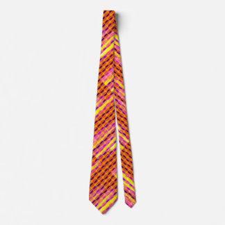 Bunter Halbmond Stripes Muster-Krawatte Krawatten