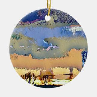 Bunter heller Fall tonte abstrakten Keramik Ornament