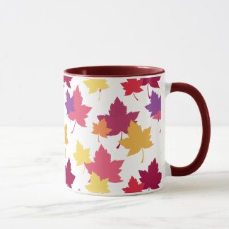 Bunter Herbstlaub-herbstliches Muster Tasse