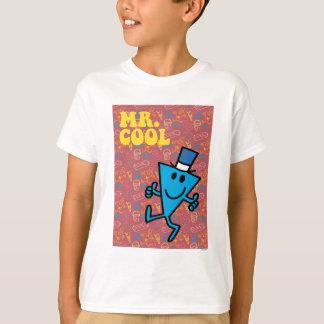 Bunter Hintergrund Herr-Cool   T-Shirt