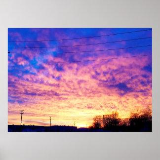 Bunter Indiana-Sonnenuntergang Poster