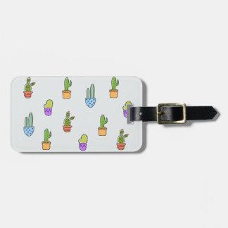 Bunter Kaktus-Gepäckanhänger Kofferanhänger