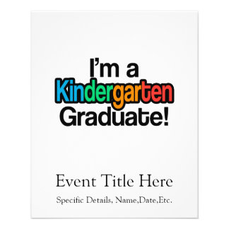 Bunter KinderAbschluss-Kindergarten-Absolvent Flyer