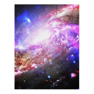 Bunter Kosmos Postkarte
