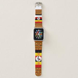 Bunter Kran-Muster-Entwurf U G Apple Watch Armband