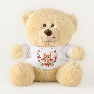 Bunter Kranz-Eulen-Entwurf Teddybär