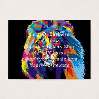 Bunter Löwe Visitenkarte