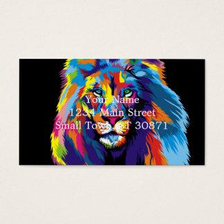 Bunter Löwe Visitenkarten