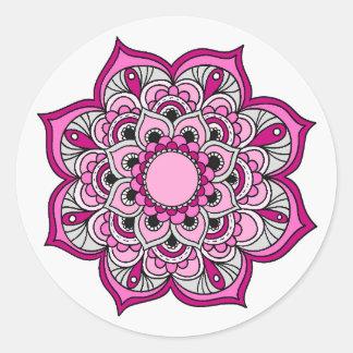 Bunter Mandala-Entwurf Runder Aufkleber