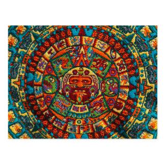 Bunter Mayakalender Postkarte