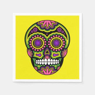 Bunter mexikanischer Zuckerschädel-Tag der Toten Serviette
