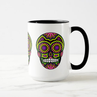Bunter mexikanischer Zuckerschädel-Tag der Toten Tasse