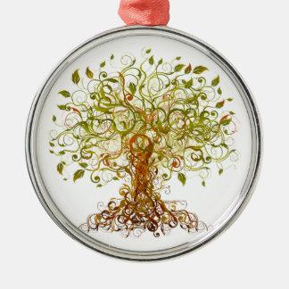 Bunter modernistischer Baum 13 Silbernes Ornament