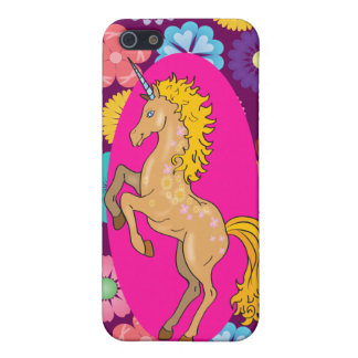 Bunter mystischer Unicorn auf rosa lila Blumen Hülle Fürs iPhone 5