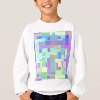 Bunter Pastellentwurf Sweatshirt