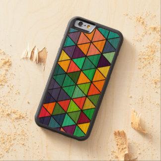 Bunter Regenbogen-Dreieck-Muster iPhone Kasten Bumper iPhone 6 Hülle Kirsche