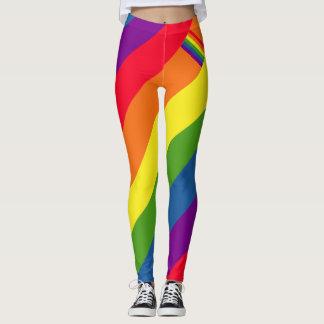 Bunter Regenbogen-Flaggen-Gay Pride Leggings