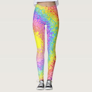 Bunter Regenbogen-psychedelische Gamaschen Leggings
