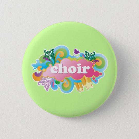 Bunter Retro Chor entwerfen Geschenk Runder Button 5,7 Cm