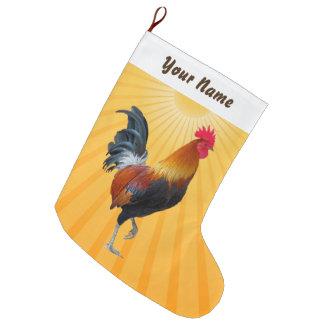 Bunter Strutting Hahn-WeihnachtsStrumpf Große Weihnachtsstrümpfe