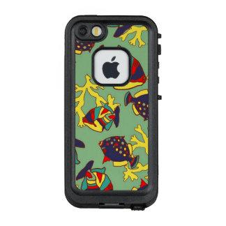 Bunter tropischer Fisch-Handy-Kasten LifeProof FRÄ' iPhone SE/5/5s Hülle